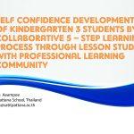 SELF CONFIDENCE DEVELOPMENT OF KINDERGARTEN 3 STUDENTS BY COLLABORATIVE 5